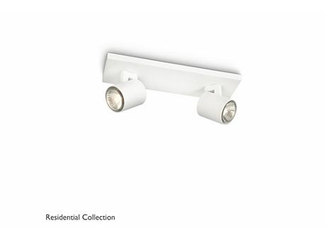 Runner bar/tube white 2x50W 230V
