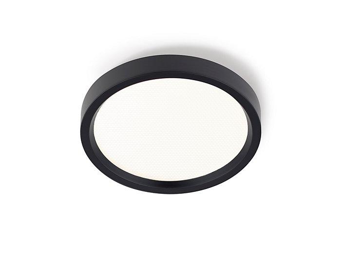 "SlimSurface LED 7"" round downlight, 90 CRI, 2700K, 1000 lm,120/277V, 0-10V dimming, wet location, black finish"