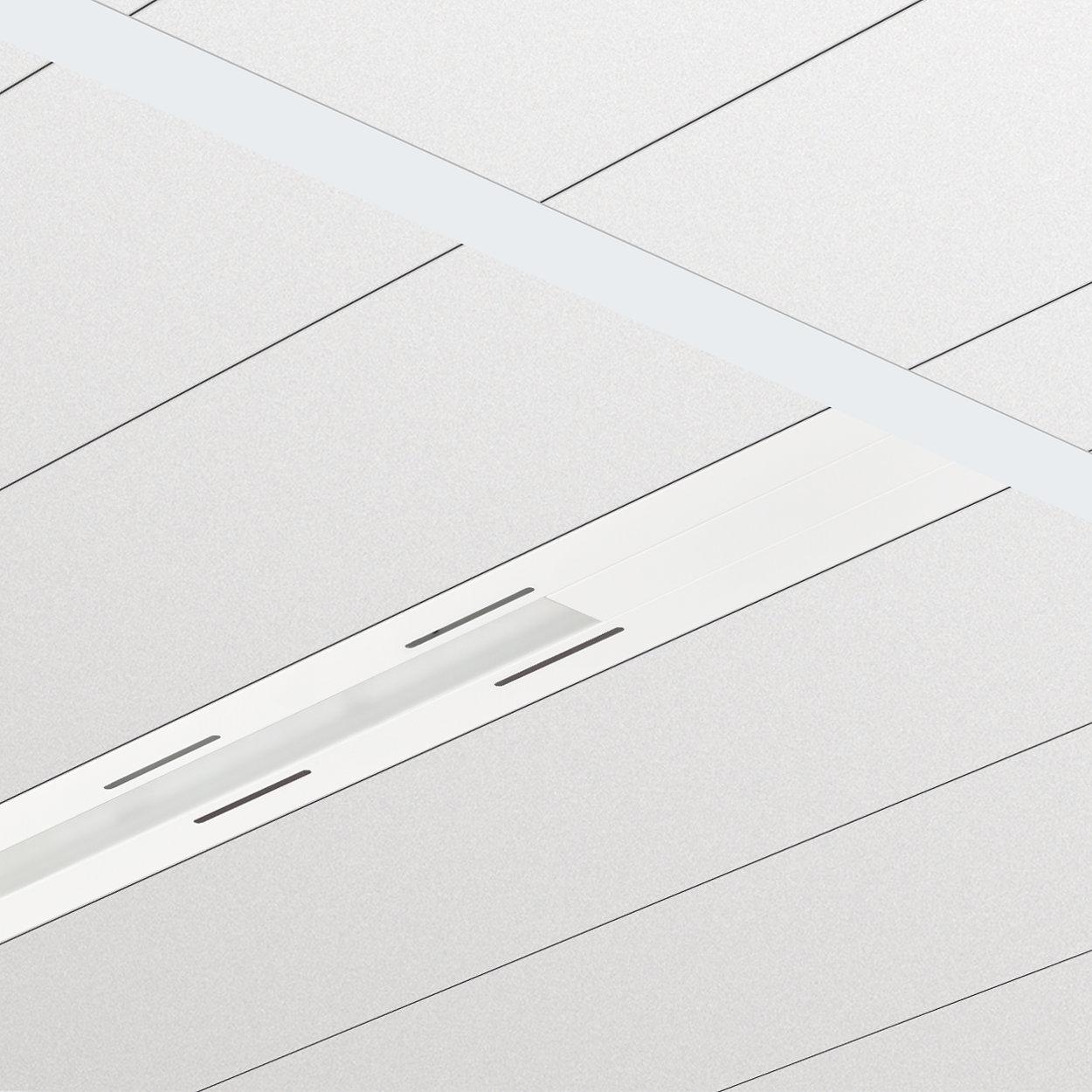 TrueLine Inbouw - Een echte lichtlijn; elegant, energiezuinig en in overeenstemming met de normen voor kantoorverlichting.