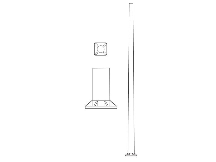 Pole (P9400), Round Tapered Pole