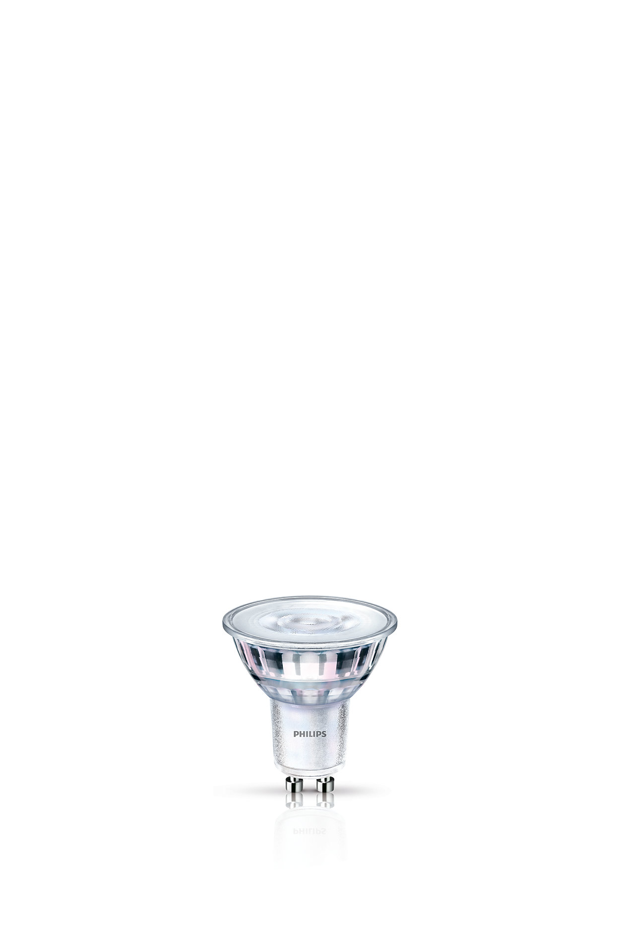 Dimmable LED light with a focused bright beam