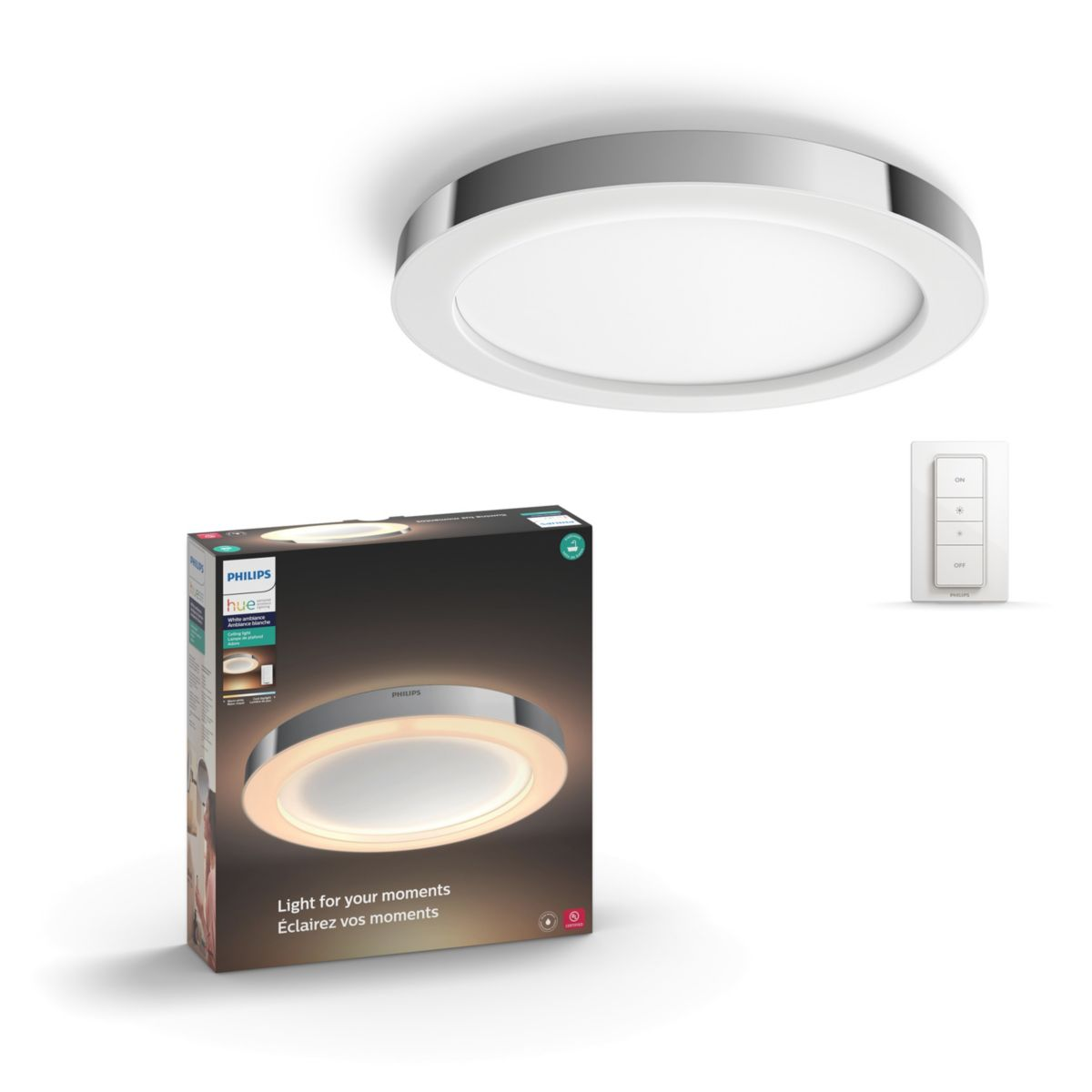 Hue White Ambiance Adore Ceiling Light 3435011u7 Philips