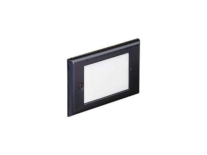 Step Light, Aluminum, Recessed, Black, 12W S-8 (93), 12V