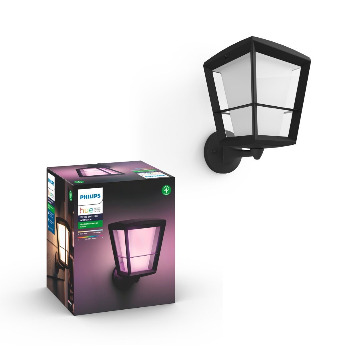Hue White And Colour Ambience Econic Outdoor Wall Light
