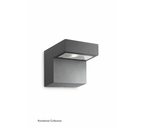 Riverside wall lantern anthracite 3x1W
