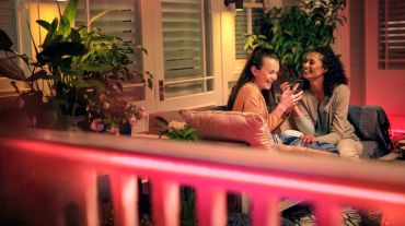 Image result for Perfectly uniform and diffused Philips Hue outdoor strip light features a special coating that diffuses, or scatters, the emitted white or colored light. There's no need to hide the light strip, whether you're using it for direct or indirect lighting — all you see is pure light.