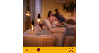 Dimmable extra warm white light