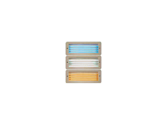 Die Cast Aluminum LED Indoor Step Light, Horizontal/vertical Open Louver Face, Opal Polycarbonate, Custom Color Face Plate, White LEDs