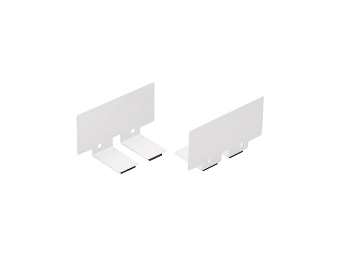 Connection pieces for in-line mounting