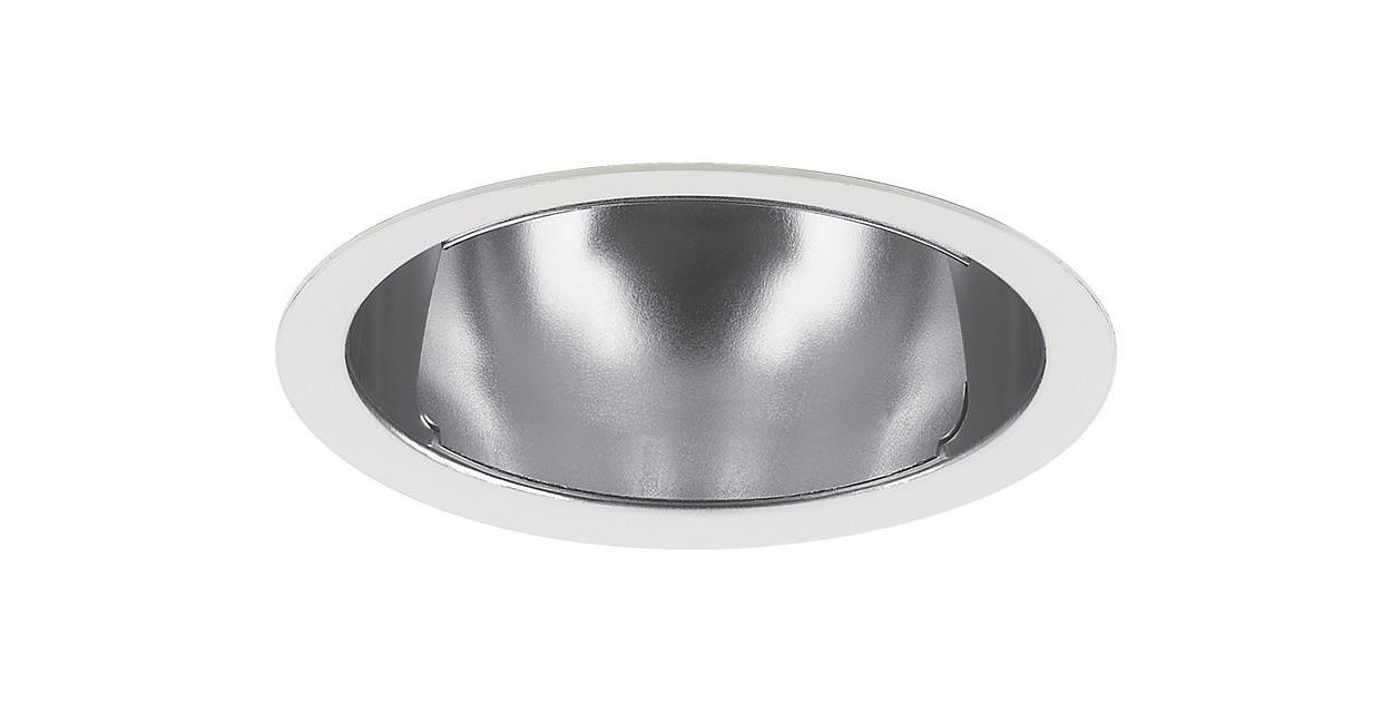 Specular aperture Cones provide more light than baffle downlights while providing a low brightness aperture