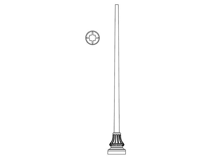 Pole (P5020), Round Tapered Pole