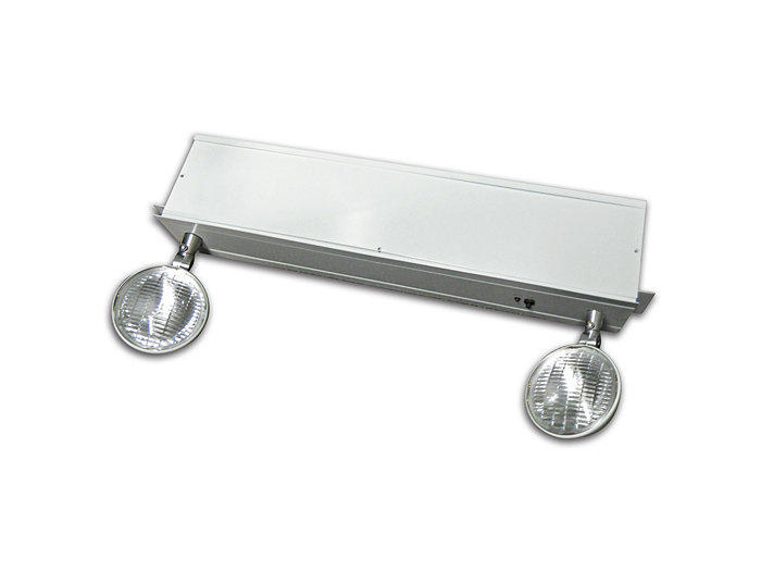 Chicago Approved, Recessed Lay-In Emergency Unit, 6V, 50W, Lead Acid, (2) 12W Halogen Lamps, Black Housing