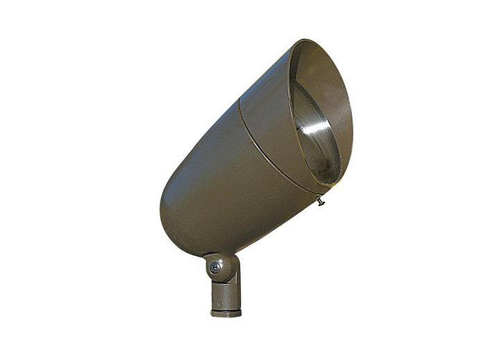 Accent, Aluminum Bullyte w/Shroud, Bronze 100W, PAR/R30, 120V