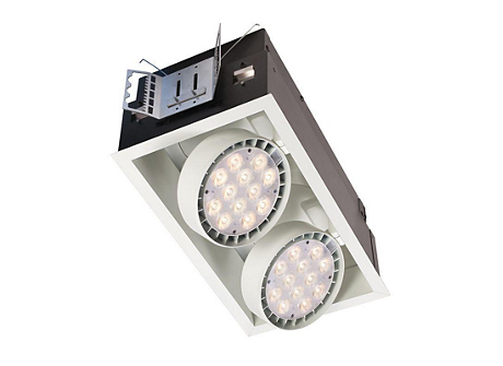 Spot LED, Recessed Lighting, Mud-in kit for flangeless trim, 2 head