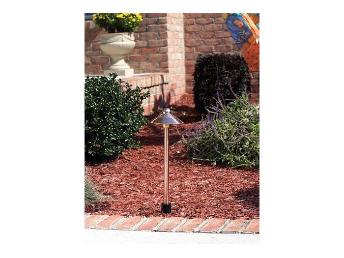 Path Light, w/ Stake, Copper, 2W LED, 3000K, 12V