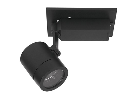 Rectangular HID Monopoint for 20W - Black