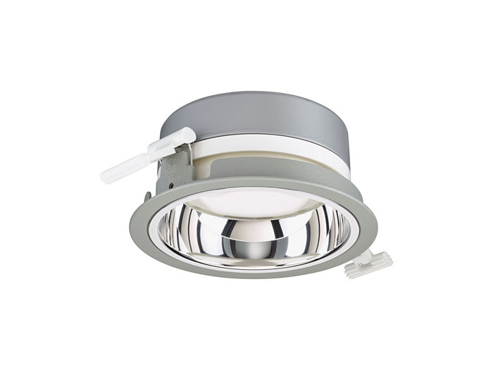 LuxSpace Mini recessed DN560B downlight with high-gloss optic, grey version