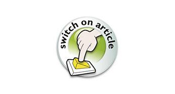 Tlačítko pro zapnutí a vypnutí na výrobku