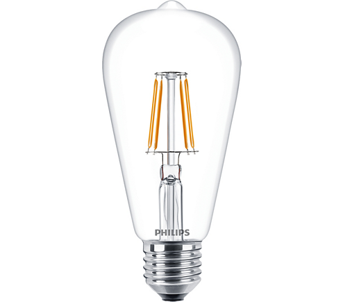 CLA LEDBulb ND 4.3-40W E27 WW ST64 CL