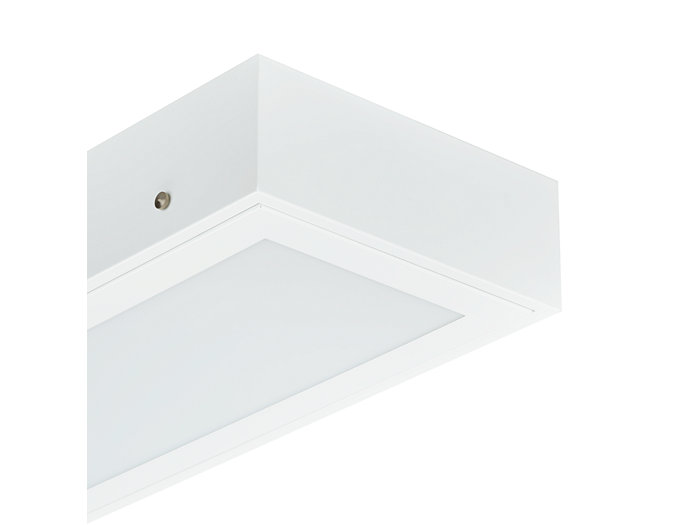 Cleanroom LED CR250B luminaire, module size 600x600 mm, with surface-mounting box