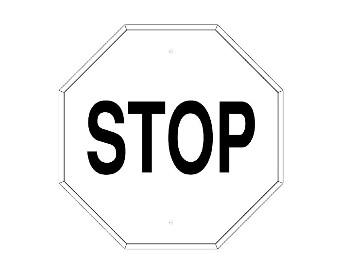 Stop Sign Frame (233)