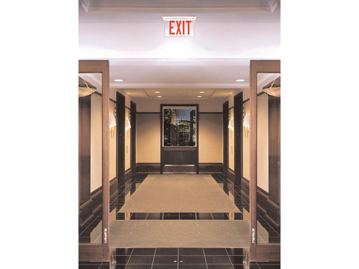 Edge-Glo Exit LED, Recessed Housing - AC Only, Green LED, RGLO LED Series
