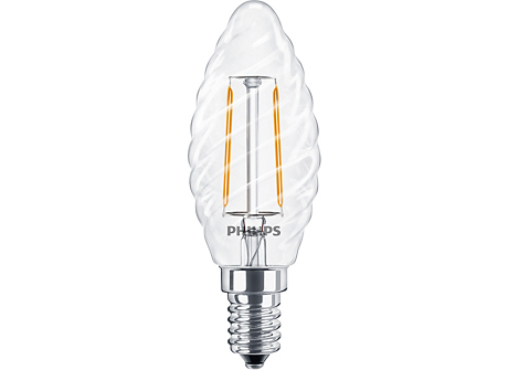 CLA LEDCandle ND 2-25W ST35 E14 827 CL