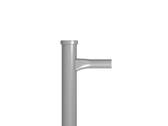 "SHORT REACH BRACKET FOR 4"" AND LARGER SQUARE POLES"