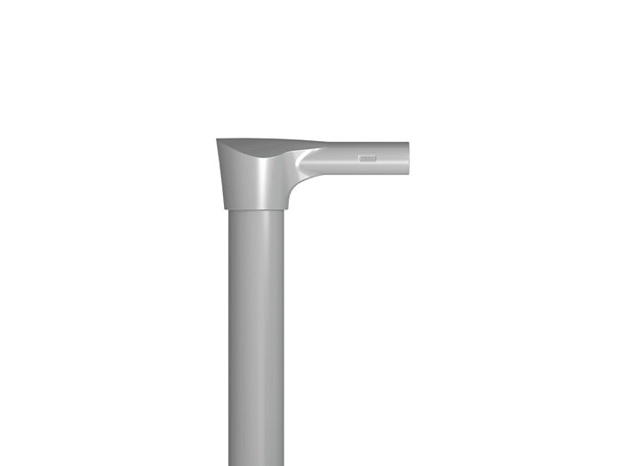 "SHORT REACH POLE TOP BRACKET FOR 4"" ROUND POLES"