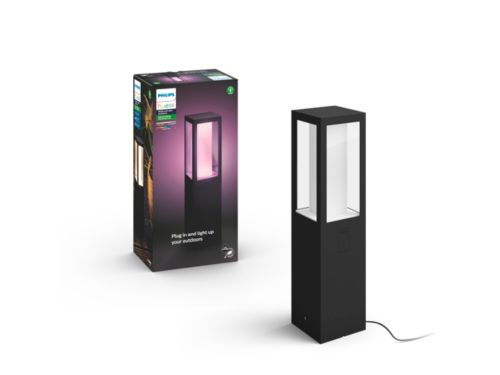 Hue White and color ambiance Impress Outdoor Pedestal Light