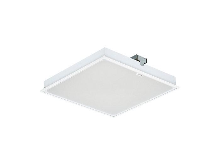 Luminária LED encastrada SmartBalance RC480B com ActiLume, tamanho do módulo 600 (versão de tecto com perfil visível)