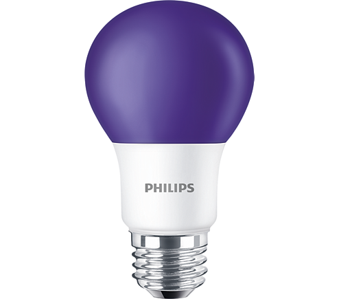 Standard LEDBulb BC8A19/LED/PURPLE/ND 120V 6/1