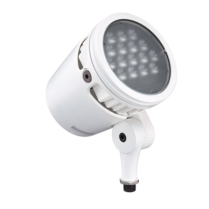 LED spotlight with intelligent white and color light