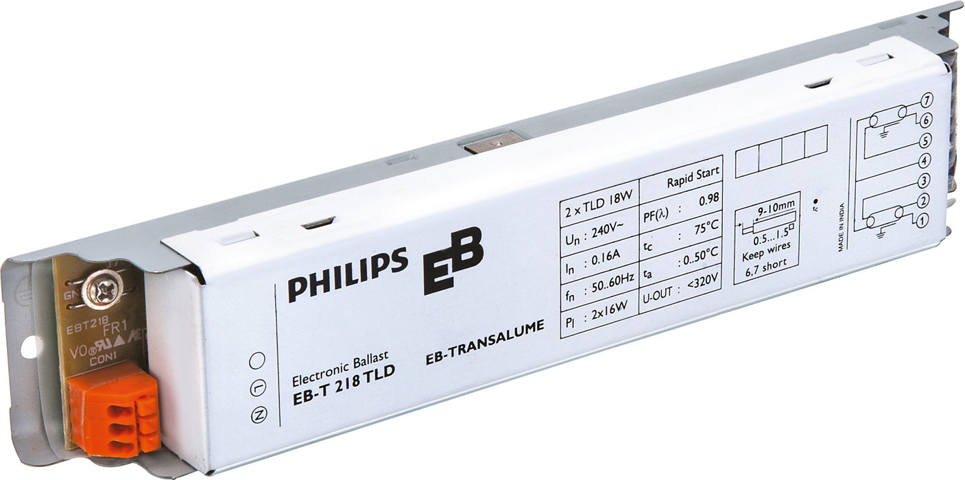EB-T electronic ballasts for TL-D lamps