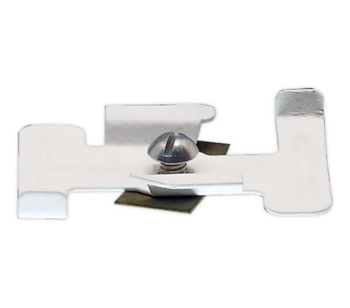 Surface Track Mounting Clips, Matte White. 10 Per Box