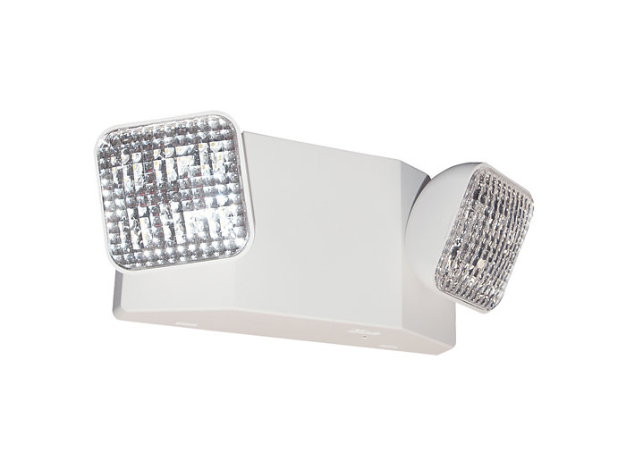 2 - 1W LED EM unit, 2 - 1W or 1 - 2W heads LED remote capable, white