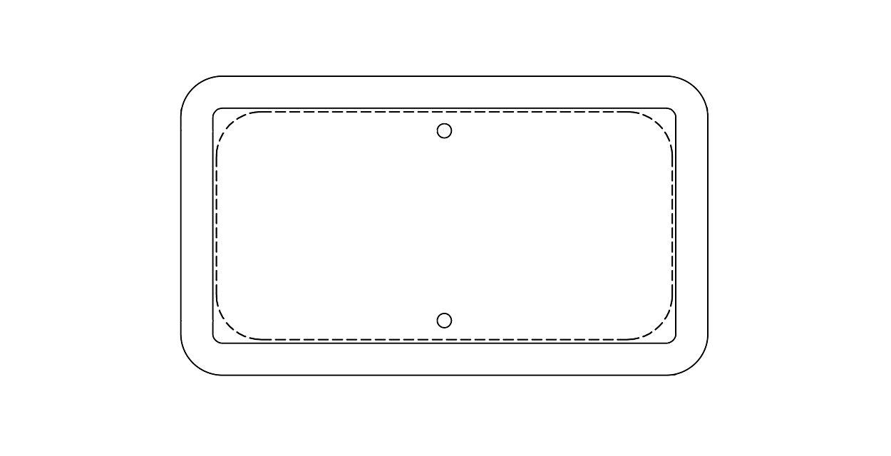 Traffic Sign Frames (210TSF) - added durability