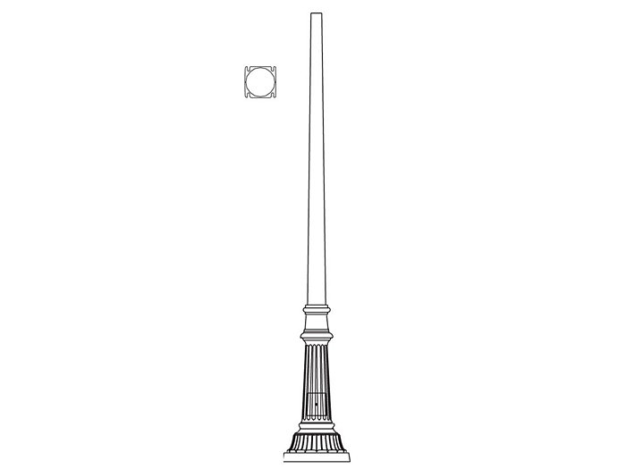 Pole (P2525), Round Tapered Pole