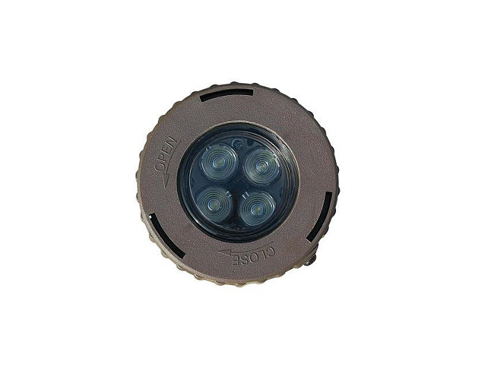 Inground, Composite, Flood, Bronze, 7W LED, 3000K, 12V