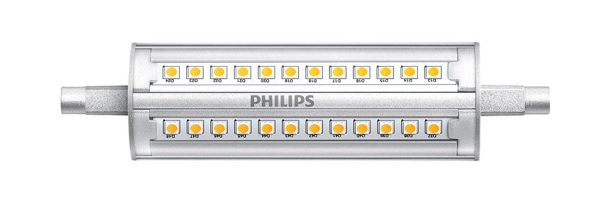 Lineal de tensión de red R7S con potencia lumínica muy elevada