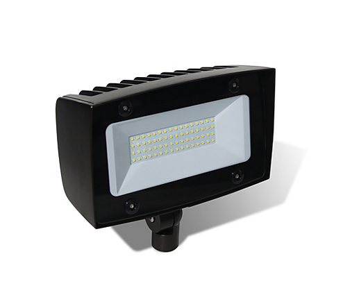 LED, 40W, 4000K, Wide Flood Optics, Textured Dark Bronze