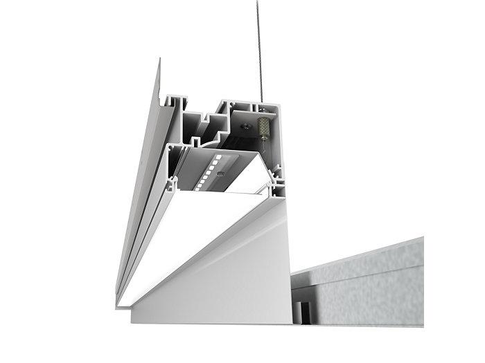 TruGroove Perimeter Ambient LED, 1400 lm/4ft, 3000/3500/4000K Ambient, Flush MesoOptics Lens
