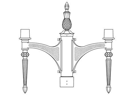 Post Top Bracket Arm (560)