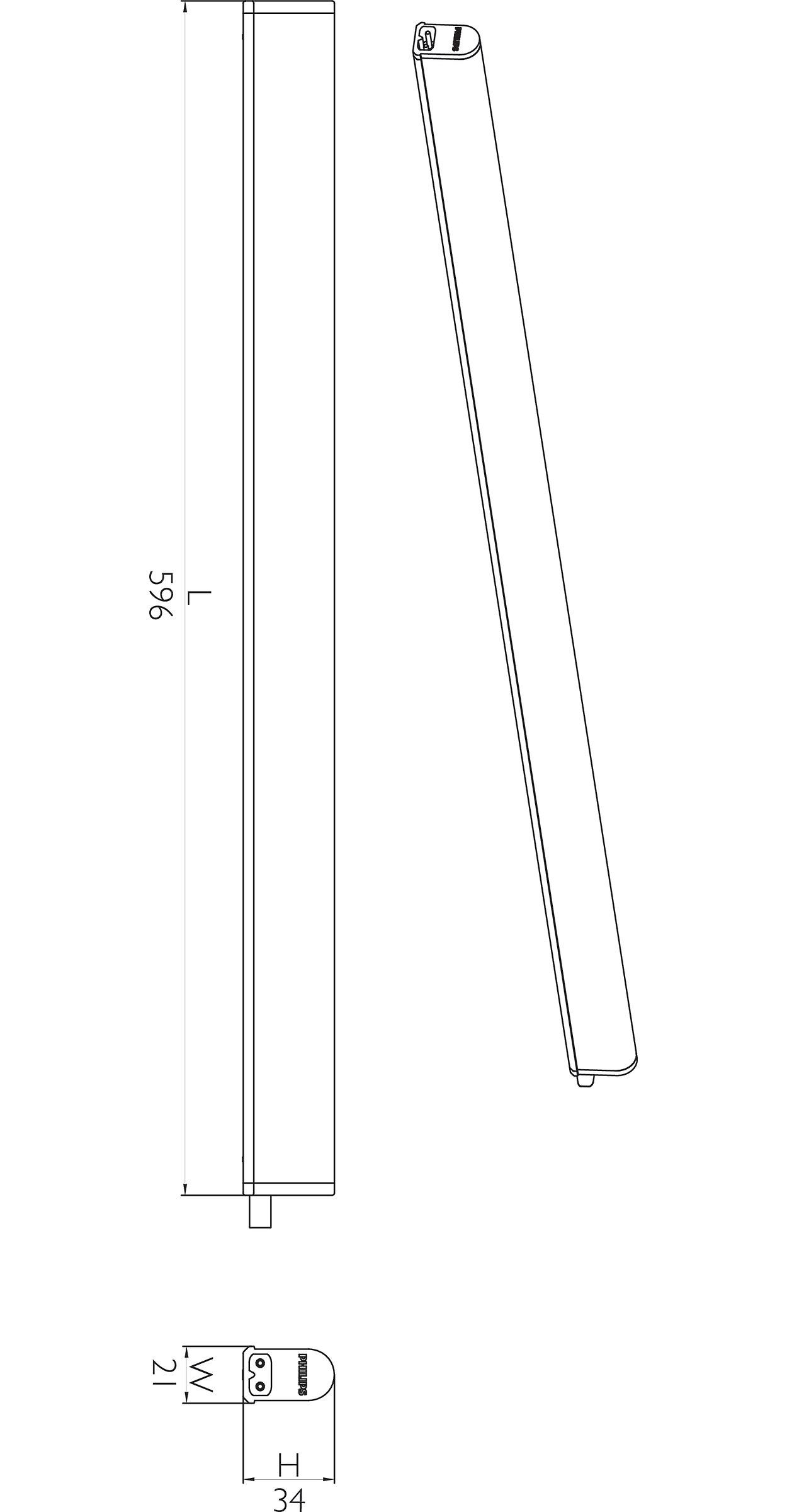 BN068C LED5/NW L600 Essential SmartBright Slim Batten - Philips