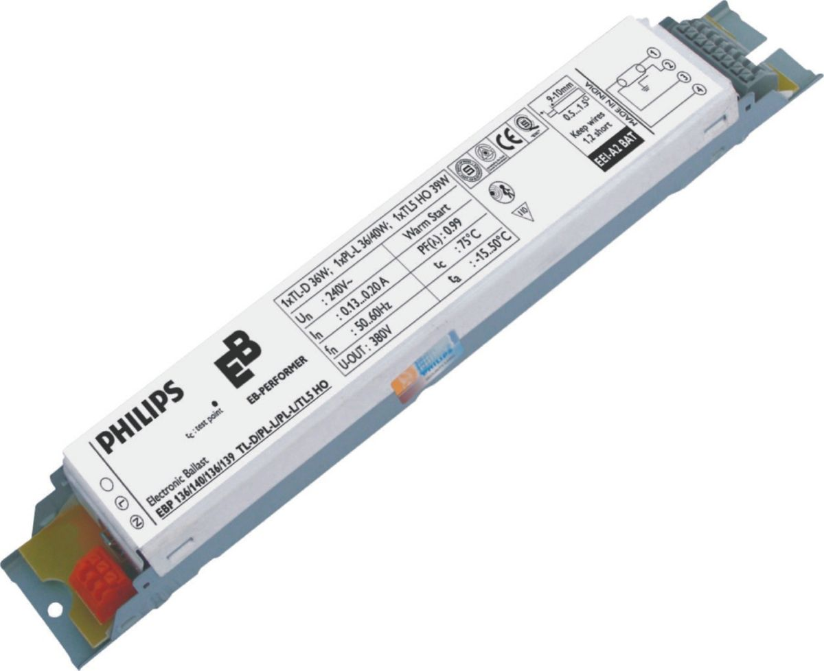 Ebp 254 258 255 Tl5 Ho Tld Pl L 240v Eb P Electronic Ballast For Wiring Diagram Tl D Lamps India Philips Lighting