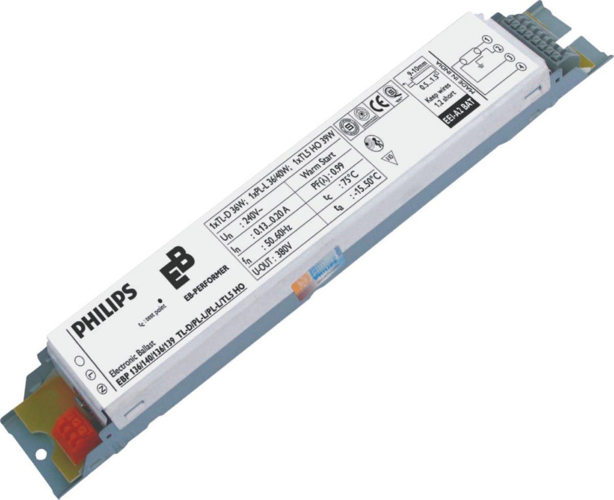 Ebp 254 258 255 Tl5 Ho Tld Pl L 240v Eb P Electronic Ballast For 4 Bulb Wiring Diagram Tl D Lamps India Philips Lighting