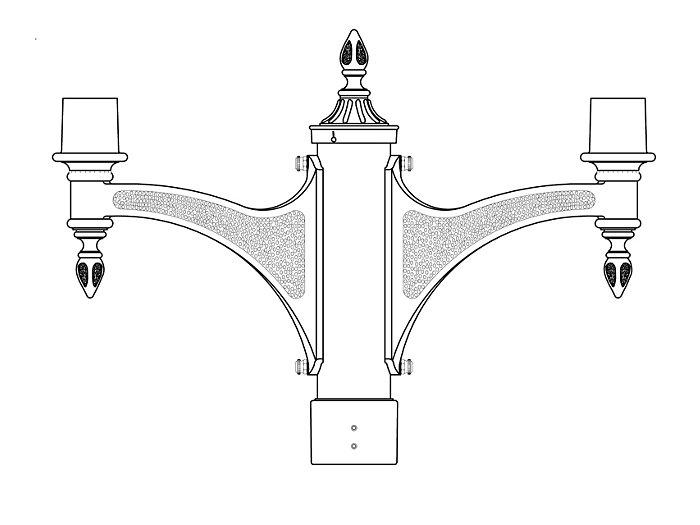 Post Top Bracket Arm (562)