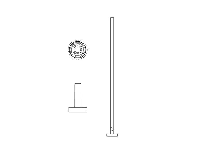 Pole (P195), Round Straight Pole