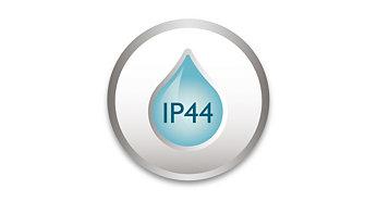 IP44: resistente al agua para uso tanto en interiores como exteriores