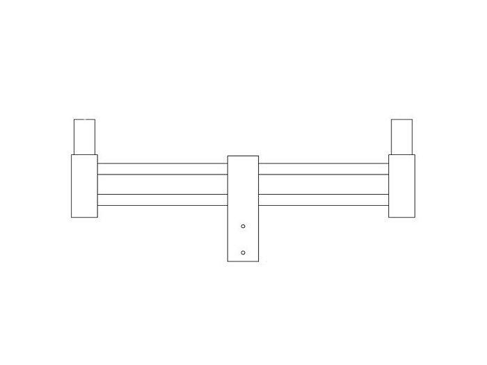 Arms, Twin arm (2 @ 180°) (PTH3120)